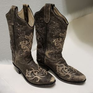 Old West Leather Uppers Cowboy Cowgirl Boots